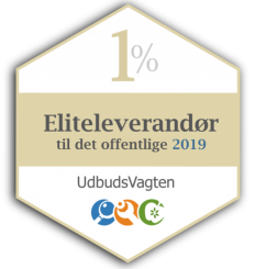 Certificeret eliteleverandør badge
